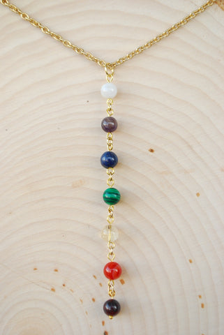Chakra Gold Chain Necklace 8mm