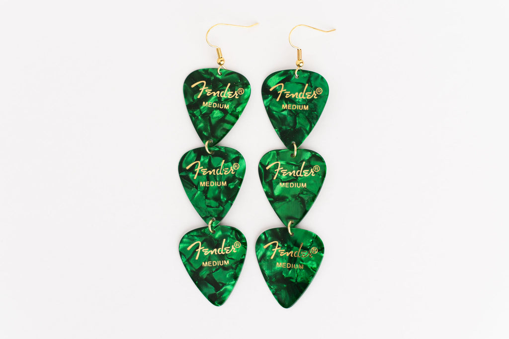Fender Green Triple Earrings