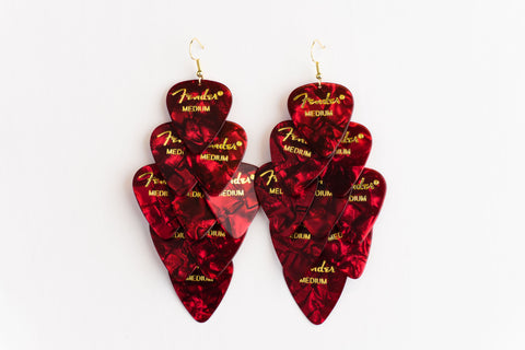 Fender Red Major Earrings