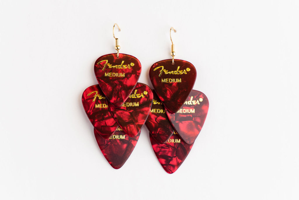Fender Red Minor Earrings