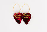 Fender Red Single Earrings
