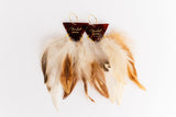 Fender Tortoise Feather Earrings