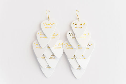 Fender White Major Earrings