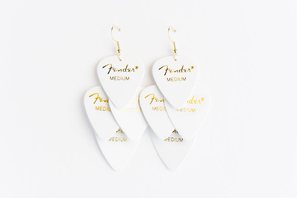 Fender White Minor Earrings