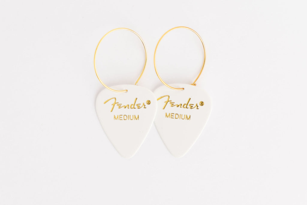 Fender White Single Earrings