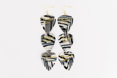 Fender Zebra Triple Earrings