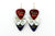 Freedom Rocks Red, White, Blue Minor Guitar Pick Earrings