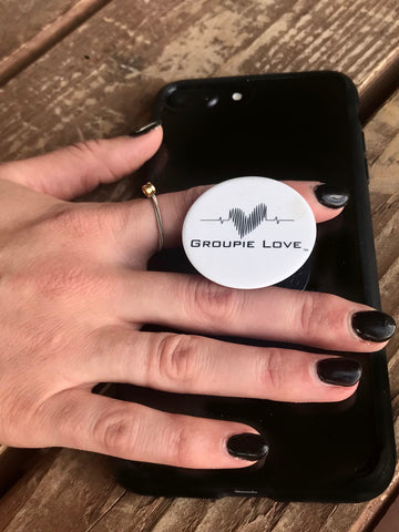 Groupie Love White Pop Socket