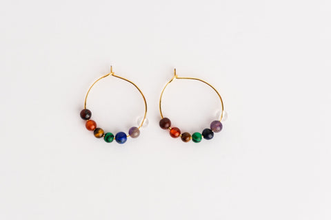 Chakra Soundwave 14K Gold Single Earrings
