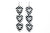 Groupie Love Checkerboard Silver Triple Earrings Wholesale
