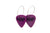 Groupie Vibes Purple Single Earrings Wholesale