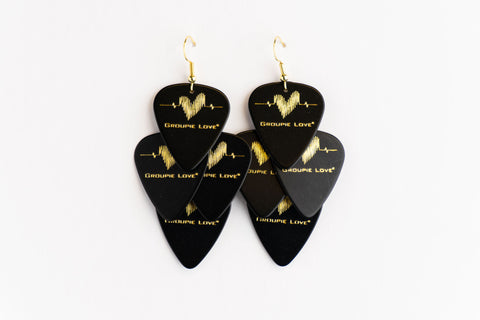 Groupie Love Black Gold Minor Earrings
