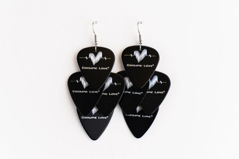Groupie Love Black Silver Minor Earrings