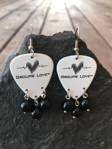 Groupie Love Classic Black Jade Earrings