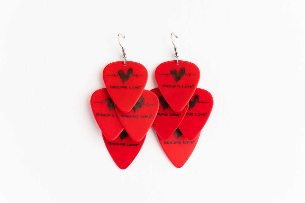 Groupie Love Red Minor Earrings