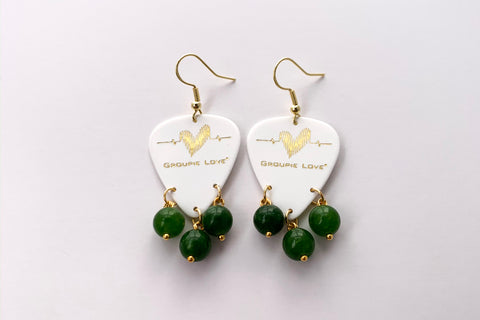 Groupie Love White Gold Emerald Earrings