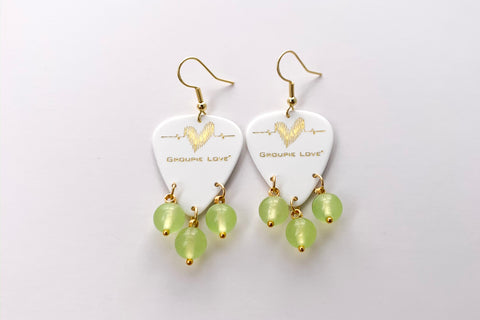 Groupie Love White Gold Peridot Earrings