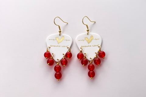 Groupie Love White Gold Ruby Earrings