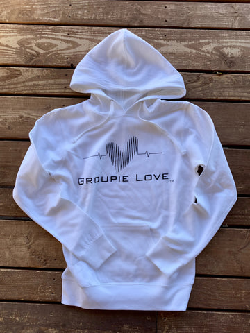 Groupie Love White Women's Hoodie