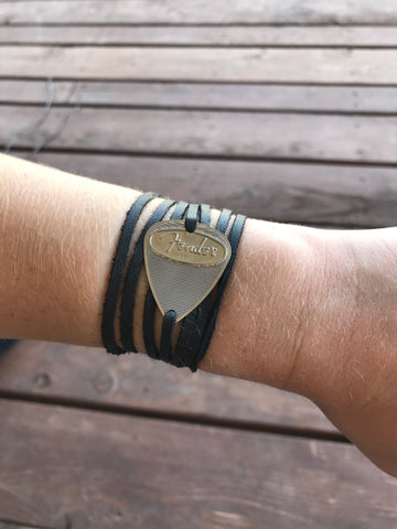 Fender Steel Black Leather Band