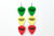 Groupie Vibes Rasta Triple Earrings Wholesale
