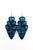 Wild Heart Gypsy Soul Turquoise Silver Major Guitar Pick Earrings