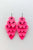 Groupie Love Pink Major Guitar Pick Earrings