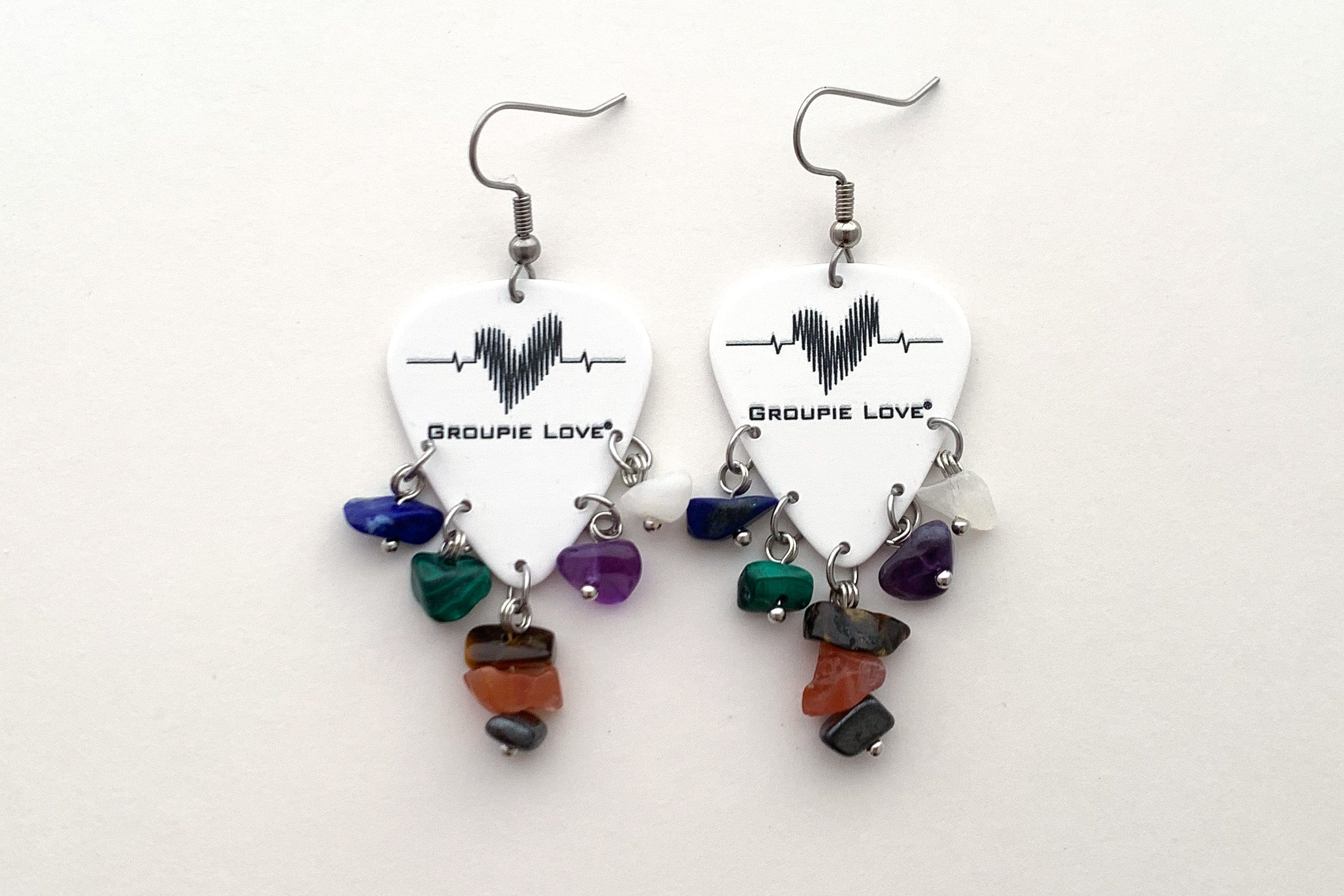 Groupie Love Classic Soundwave Chip Earrings