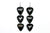 Groupie Tribe Camo Silver Triple Guitar Pick Earrings Wholesale