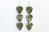 Wild Heart Gypsy Soul Abalone Gold Triple Guitar Pick Earrings