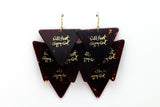 Wild Heart Gypsy Soul Tortoise Triangle Gold Minor Guitar Pick Earrings