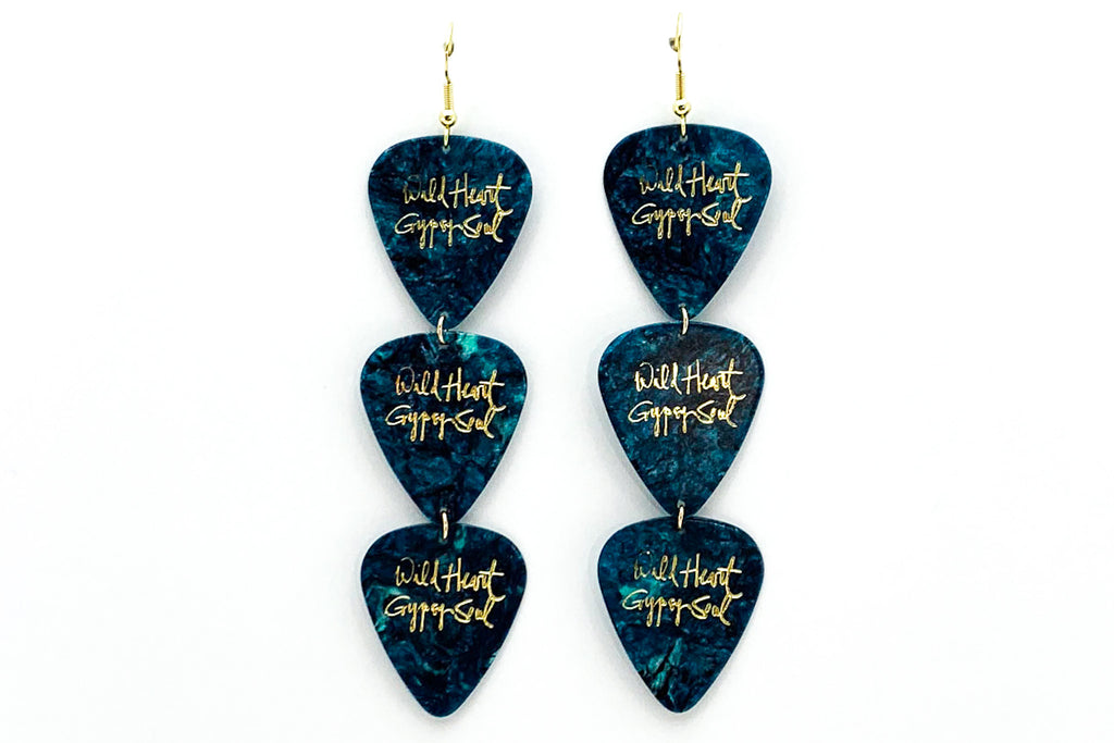 Wild Heart Gypsy Soul Turquoise Gold Triple Earrings Wholesale