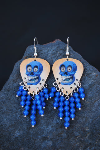 Halloween Sapphire Earrings