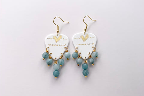 Groupie Love White Gold Aquamarine Earrings