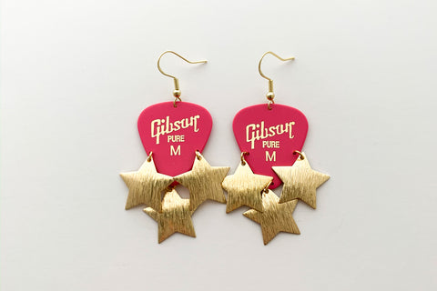 Gibson Pink Gold Star Earrings