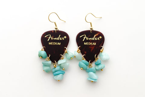 Fender Tortoise Amazonite Earrings