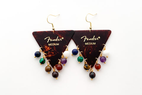Fender Tortoise Triangle Soundwave Earrings