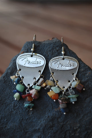 Fender Steel Mixed Stone Earrings