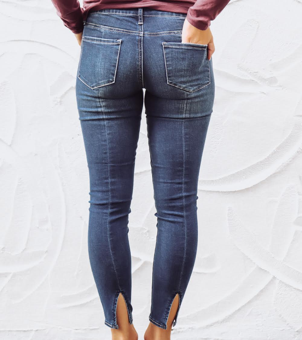 Suzy Step Hem Jeans by Cotton & Rye