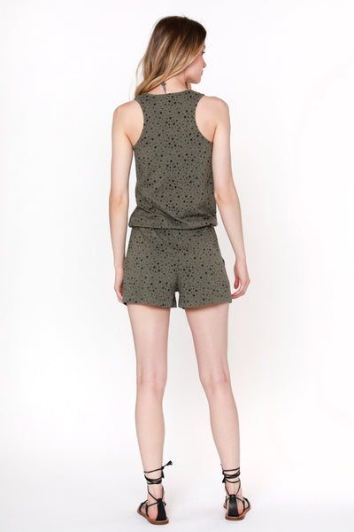 Army Green Star Romper