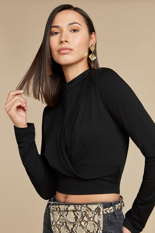Knit Twist Crop Top