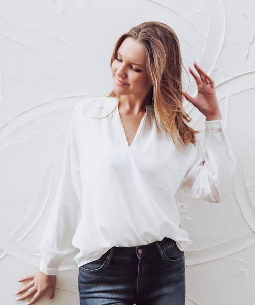 White Denali Blouse