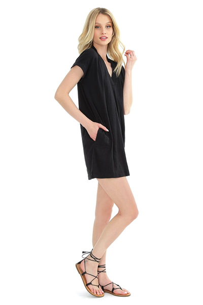 Dolman V-Neck Dress