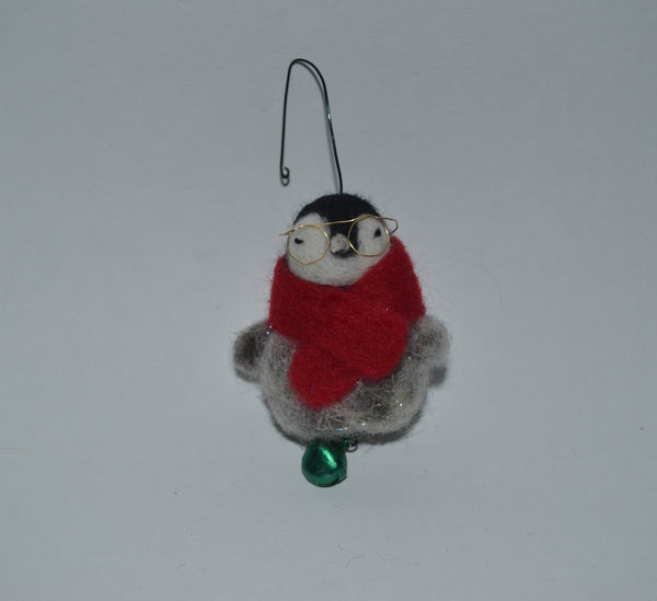 Penguin Baby Felt Christmas Ornament