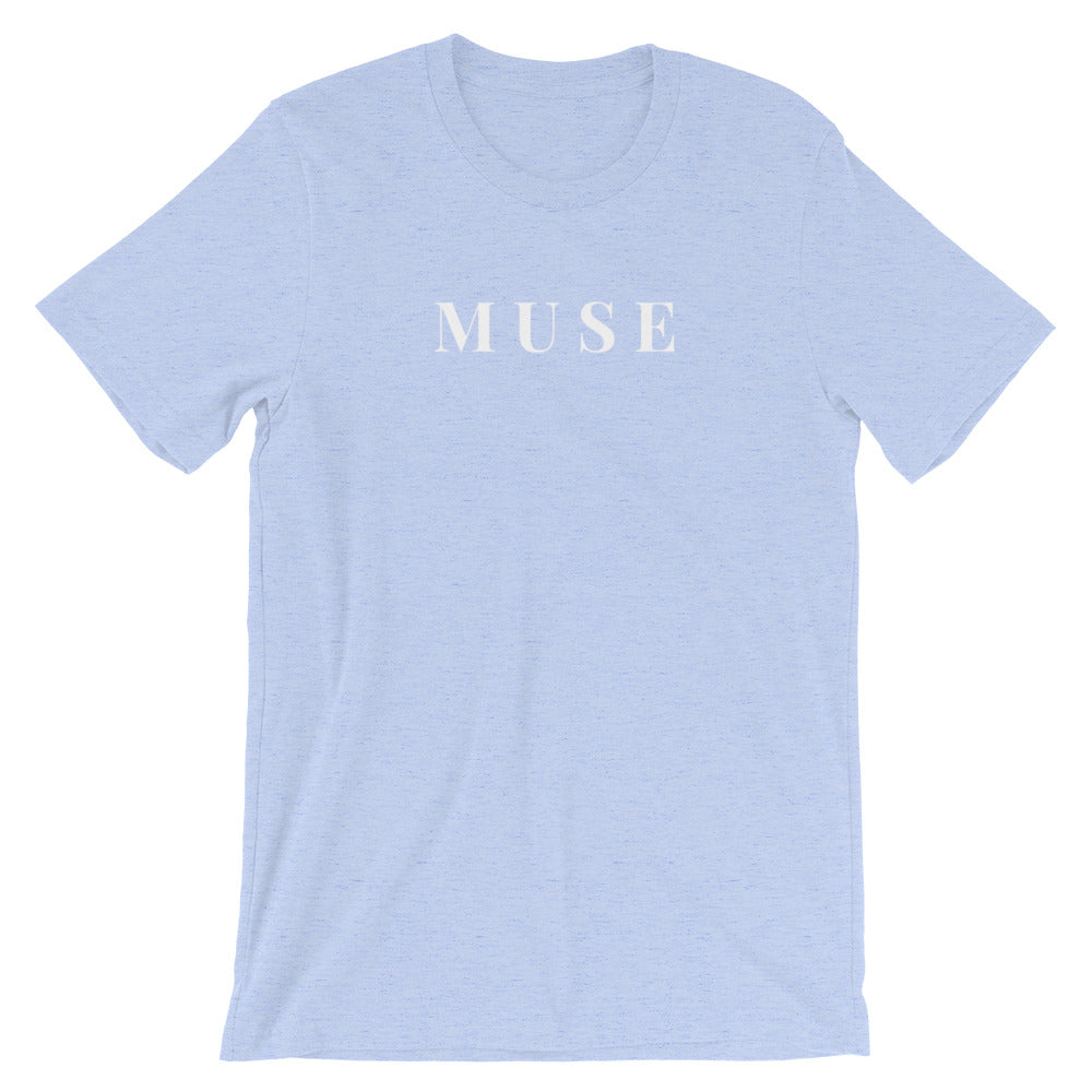 The Muse Tee In Baby Blue