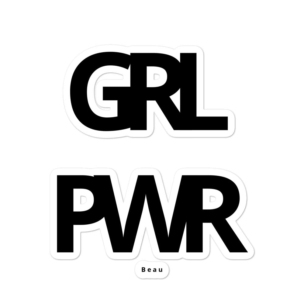 The GRL PWR Sticker