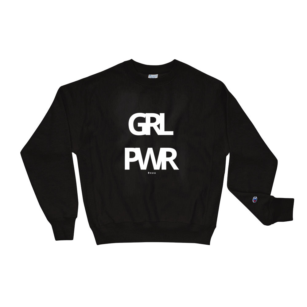 The GRL PWR Crewneck In Black