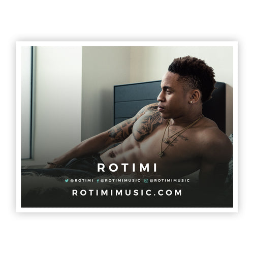 SIGNED Rotimi 18x24 Poster ­- Bed Design