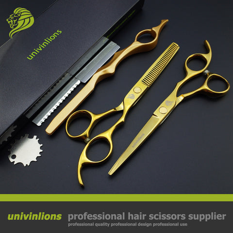 "6"" Gold Hair Cut Scissors Kit"