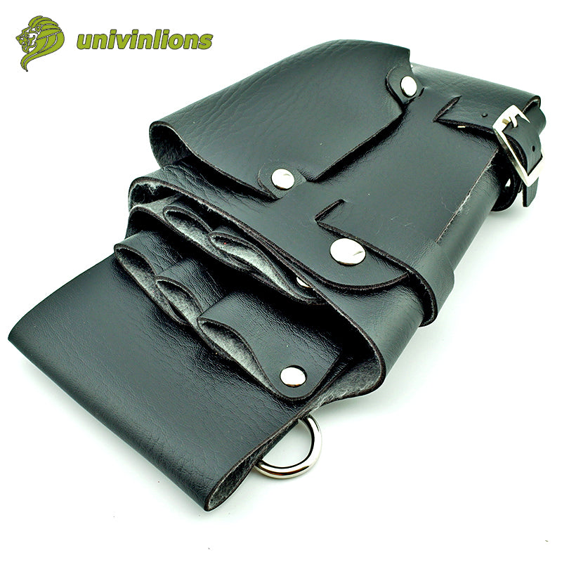 12x22 cm Hair Style Tools Leather Holster Bag Barber Tools Organizer with Waist Shoulder Belt